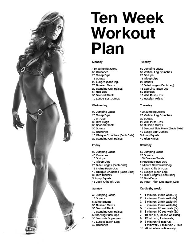 10 week workout plan! by guadalupe #fitnessplan | exercise