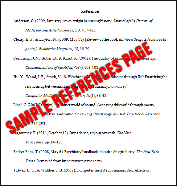Essay Basics format A References Page In Apa Style Amazing Apa