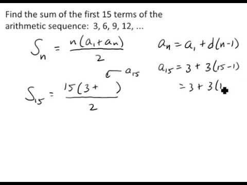 The Sum of the First n Terms of an Arithmetic Sequence Video