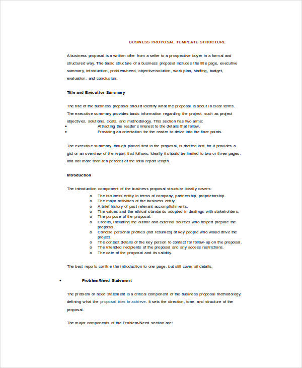 Business Proposal Template Word 16+ Free Sample, Example, Format
