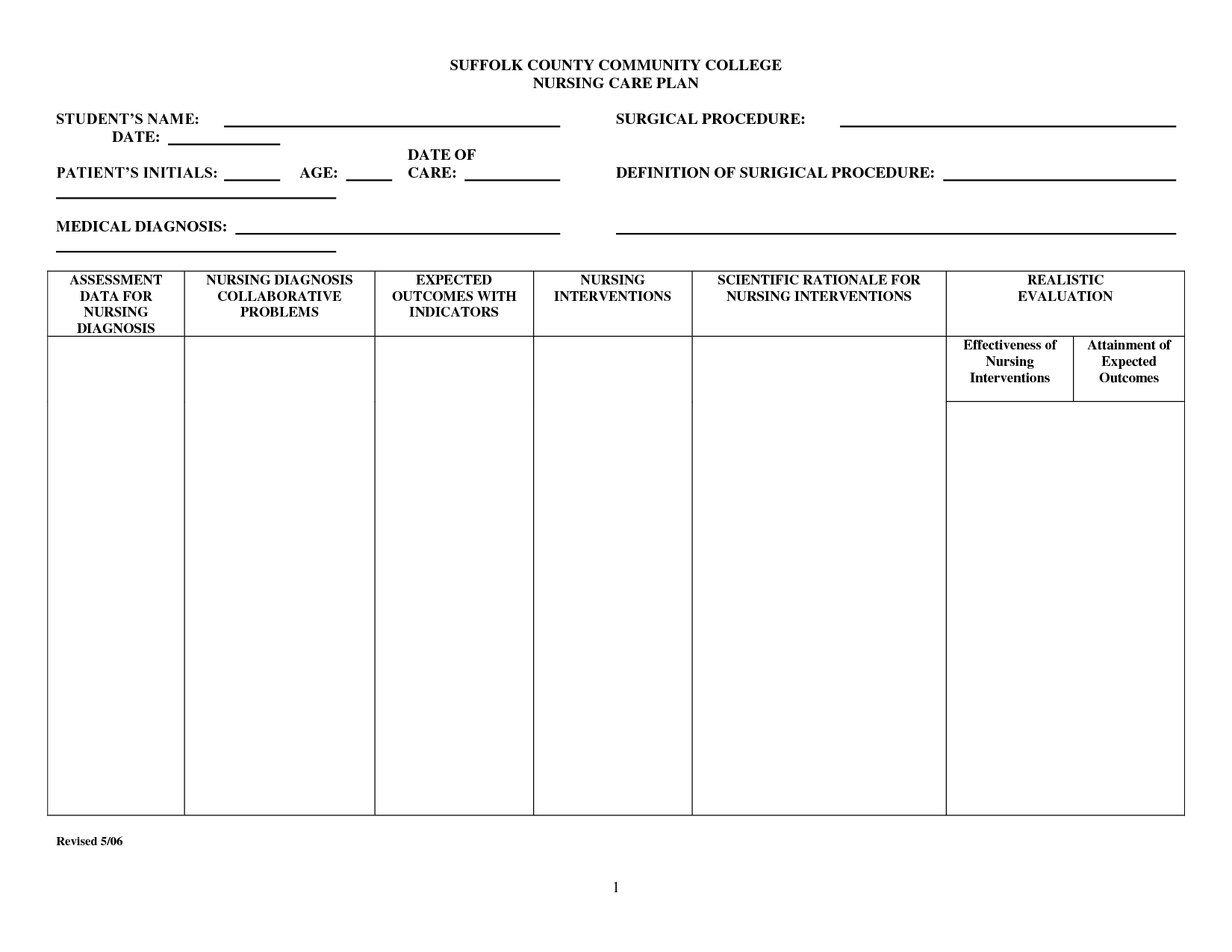 nursing care plan templates blank Dorit.mercatodos.co