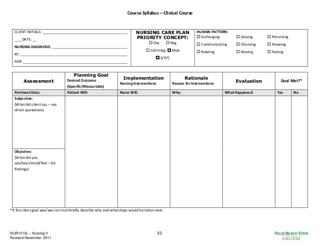blank nursing care plan templates Google Search | Nursing