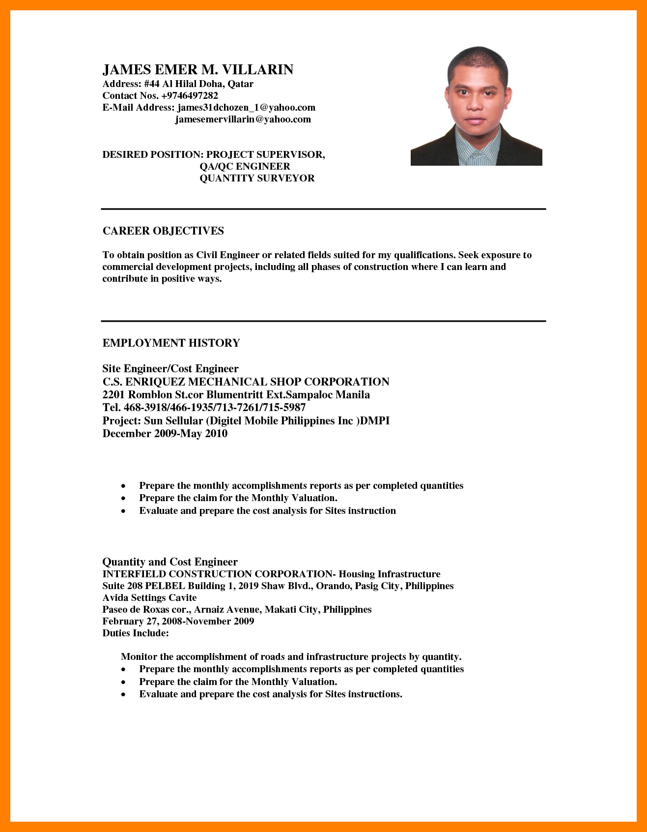 5+ career objective in resume for software engineer | catering resume