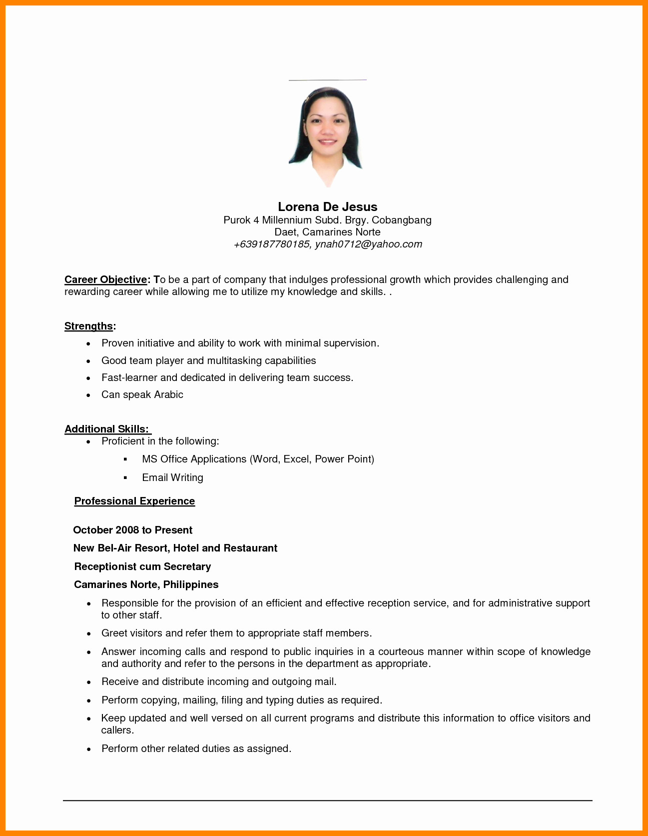 Career Objective Resume Examples Unique Job Objective Resume