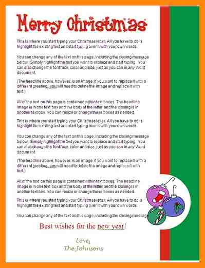 Christmas Letter Examples 12 Christmas Letter Examples Nurse