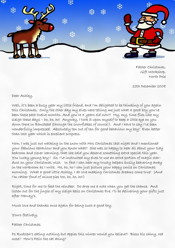 Christmas Letter Examples Sample Christmas Letters Letters Font