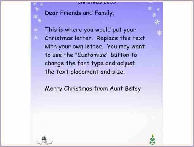 Christmas Letter Examplesrry Christmas Letter Examples Christmas