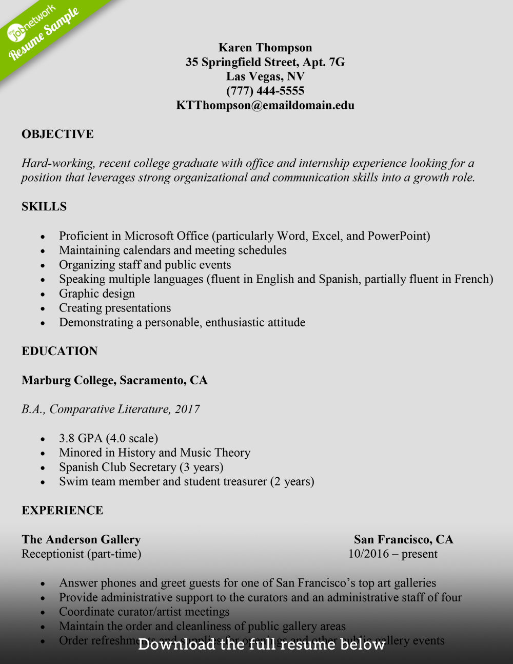 How to write a college student resume (with examples)