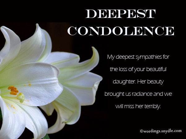 condolences sayings | bid proposal sample