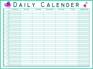 Best Photos Of Blank Daily Planner Template Free Printable Daily
