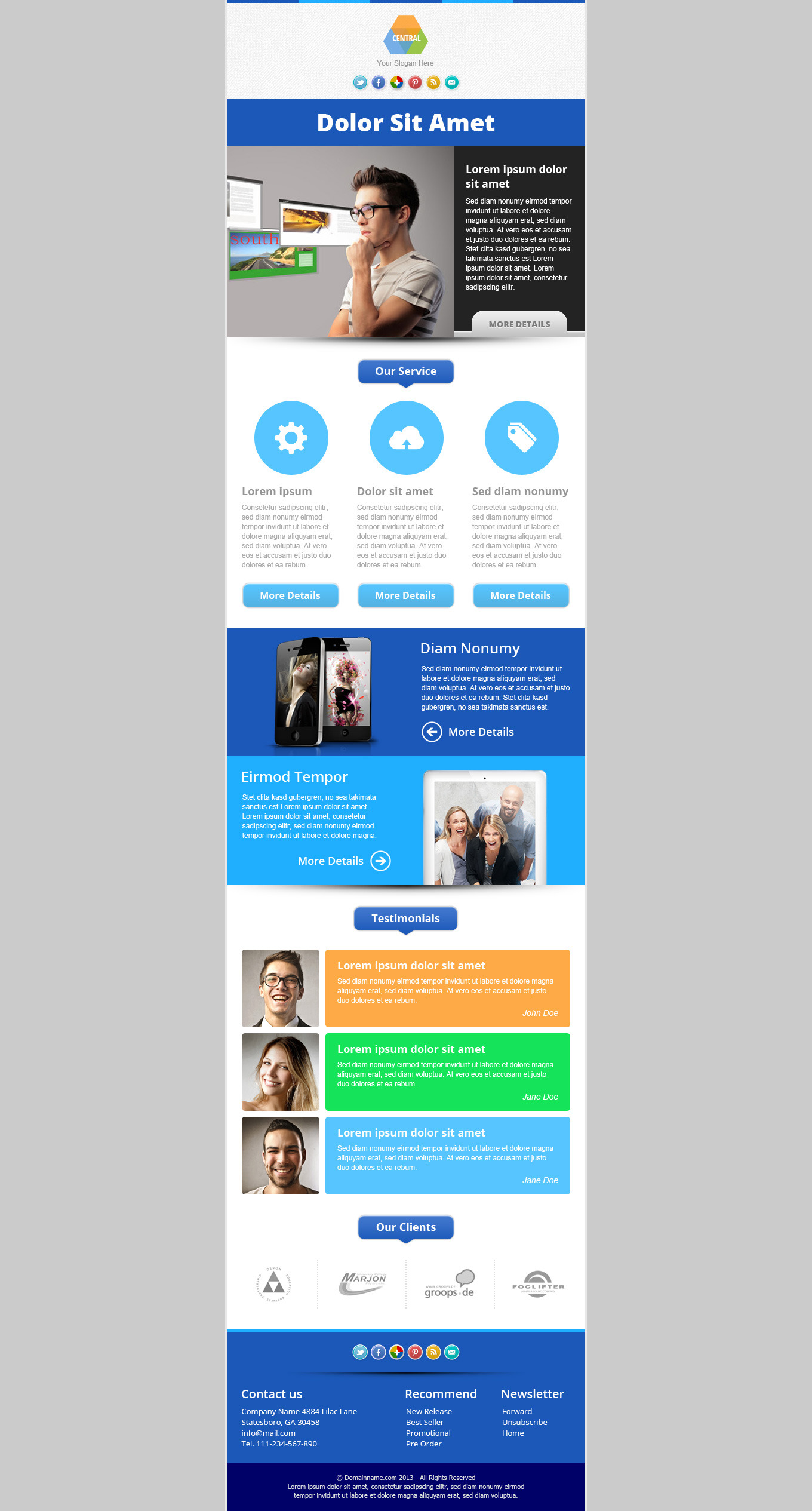 website newsletter template Dorit.mercatodos.co