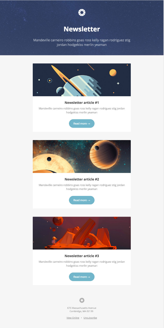 Newsletter: Email Newsletter Template