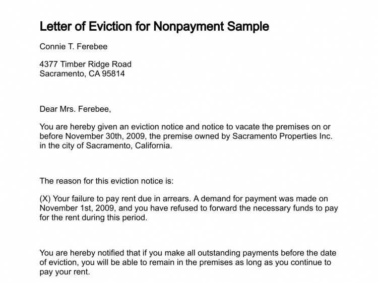 Letter Of Eviction Letter Of Eviction Harfiah Jobs
