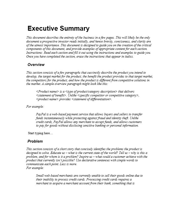 30+ Perfect Executive Summary Examples & Templates Template Lab