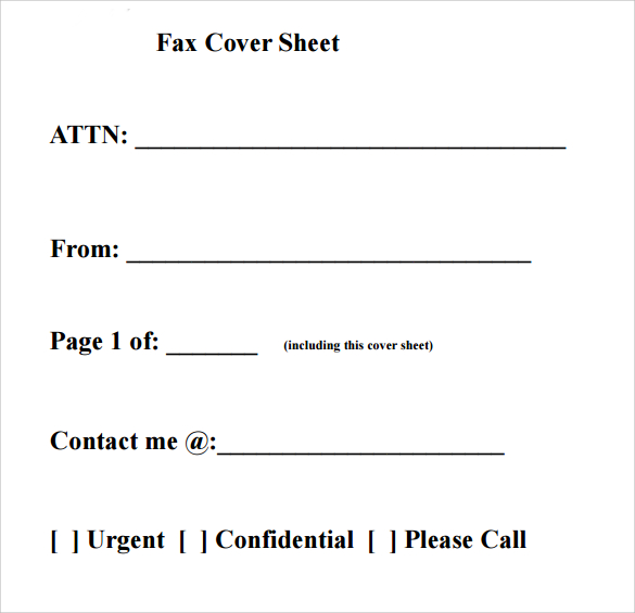 free printable fax cover sheet pdf Klise.thegreaterchurch.co