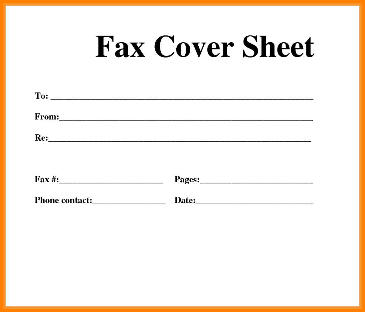 8+ free fax cover sheet printable pdf | Ledger Review