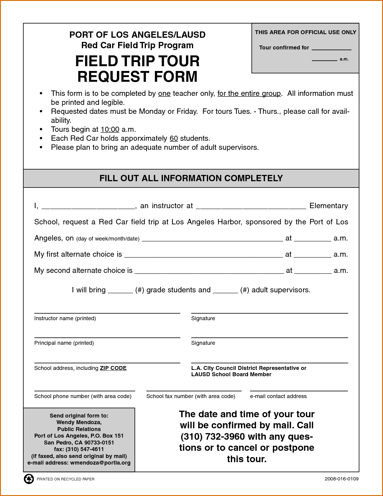 7+ field trip form template | Authorizationletters.org
