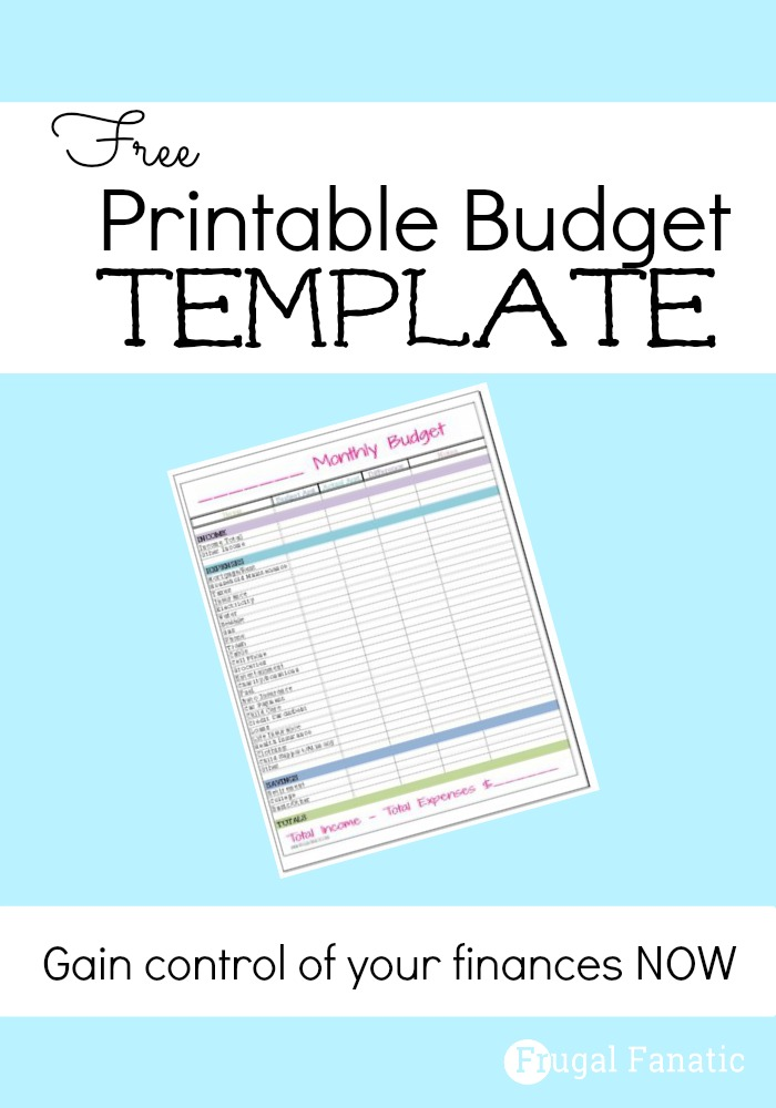 Free Monthly Budget Template | Monthly budget template, Monthly