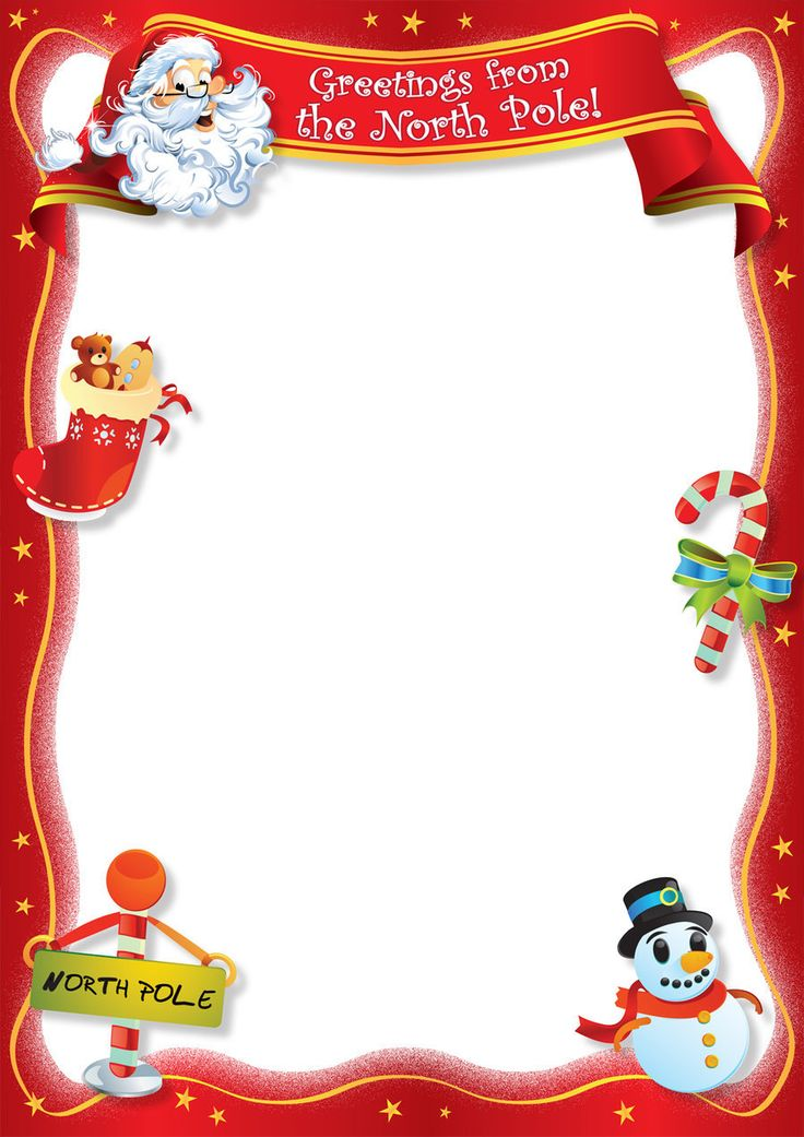 free printable santa letters template Yeni.mescale.co