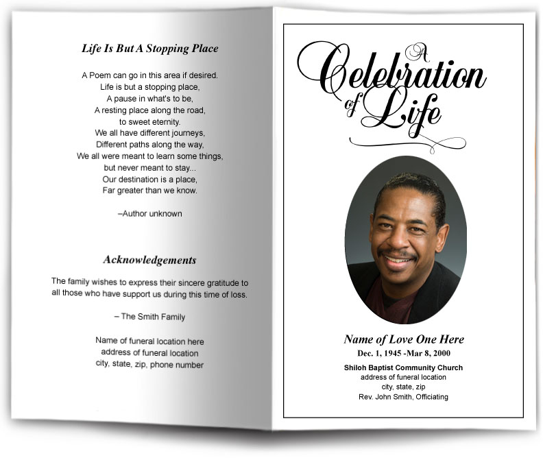 Funeral Leaflet Template Classic Funeral Program Template Memorial
