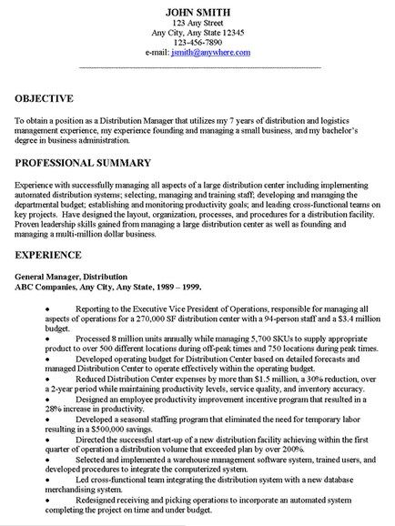General Resume Objective Examples jmckell.Com