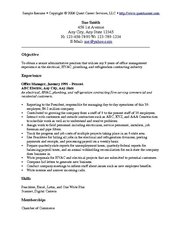 Resume Objective Examples Sample Free Resume Objective Examples