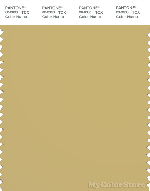 PANTONE 16 0836 TCX Rich Gold Color Values: RGB: 200 178 115 HEC
