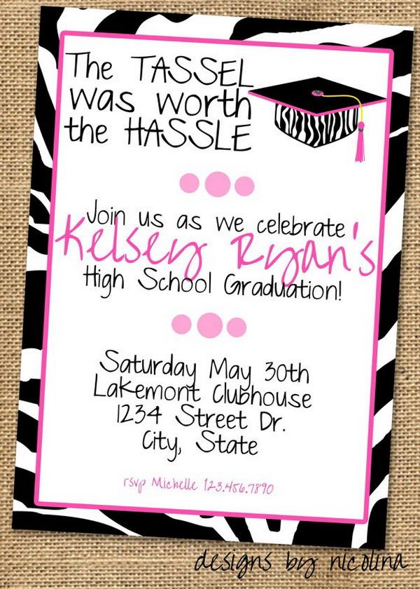 Graduation Invitation for Girl 10 Creative Graduation Invitation