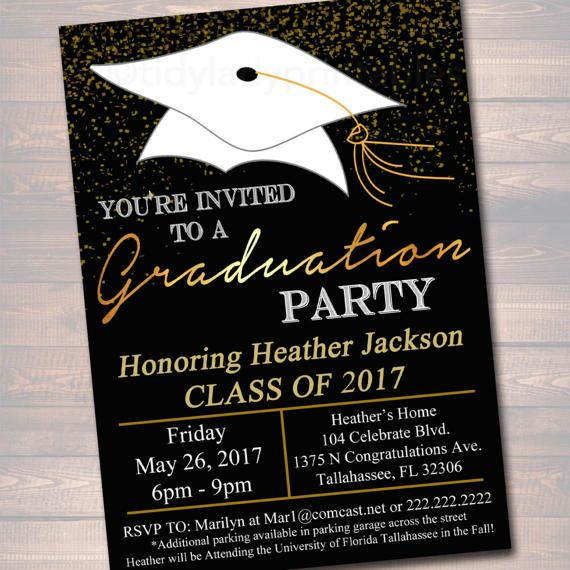 EDITABLE Graduation Party Invitation, High School Graduation