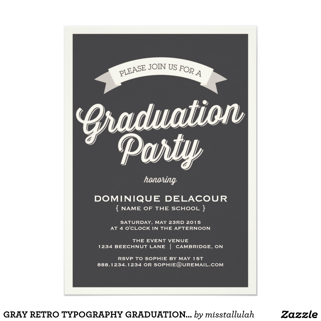 Graduation Party Invitation sansalvaje.Com