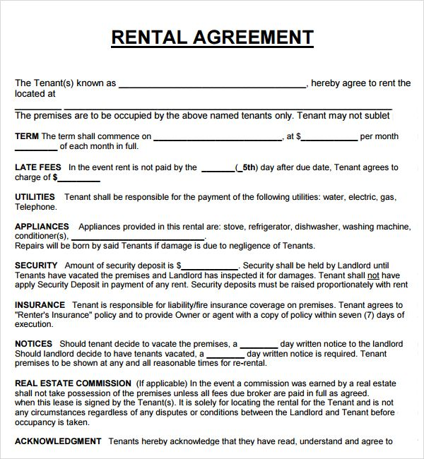 free house rental lease agreement templates home rental agreement