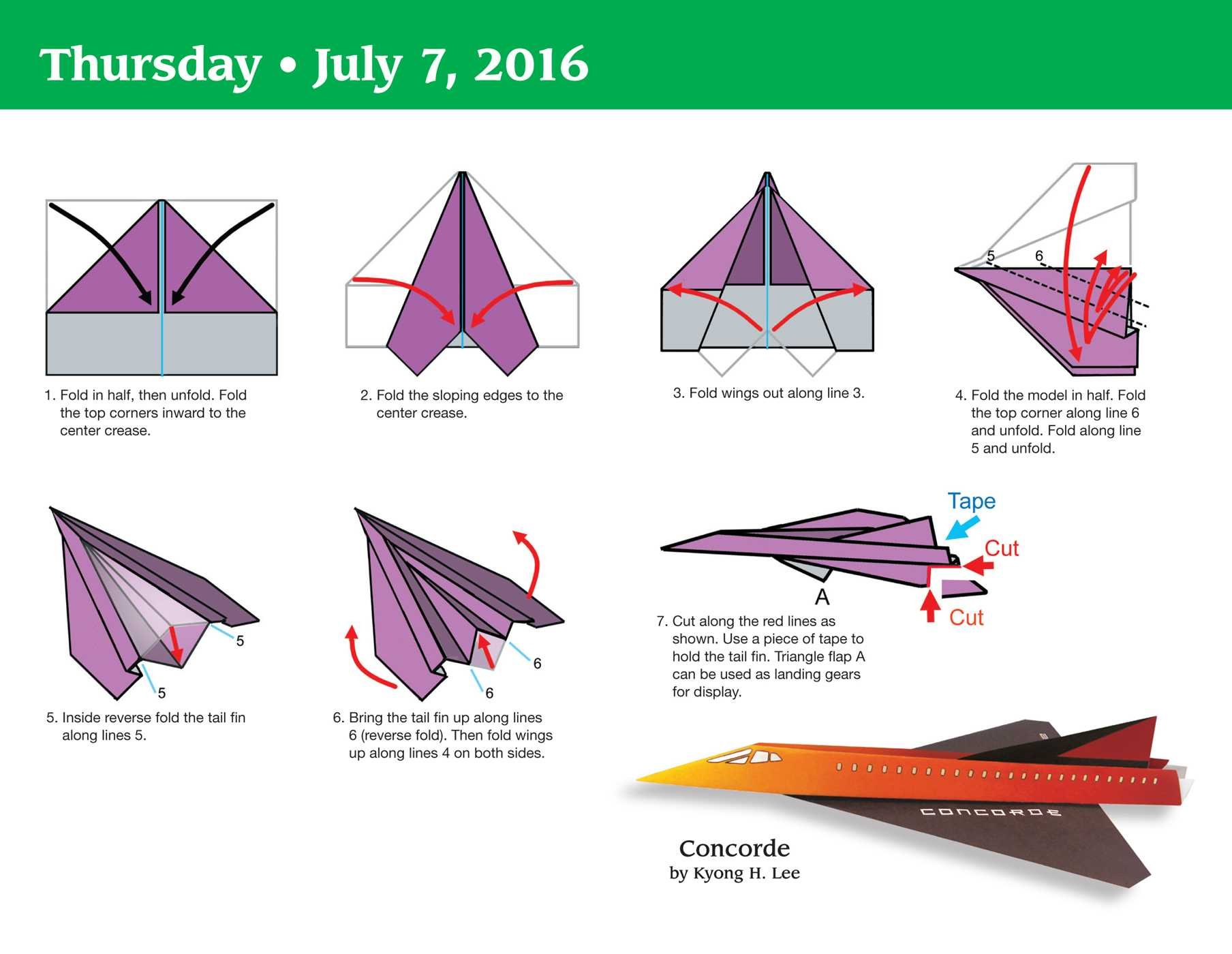 Paper Airplane Fold a Day 2016 Day to Day Calendar: Kyong Lee