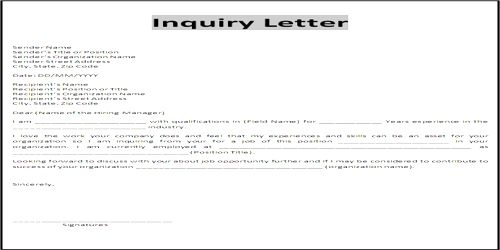 Importance Of Business Status Inquiry Letter Qs Study With Regard