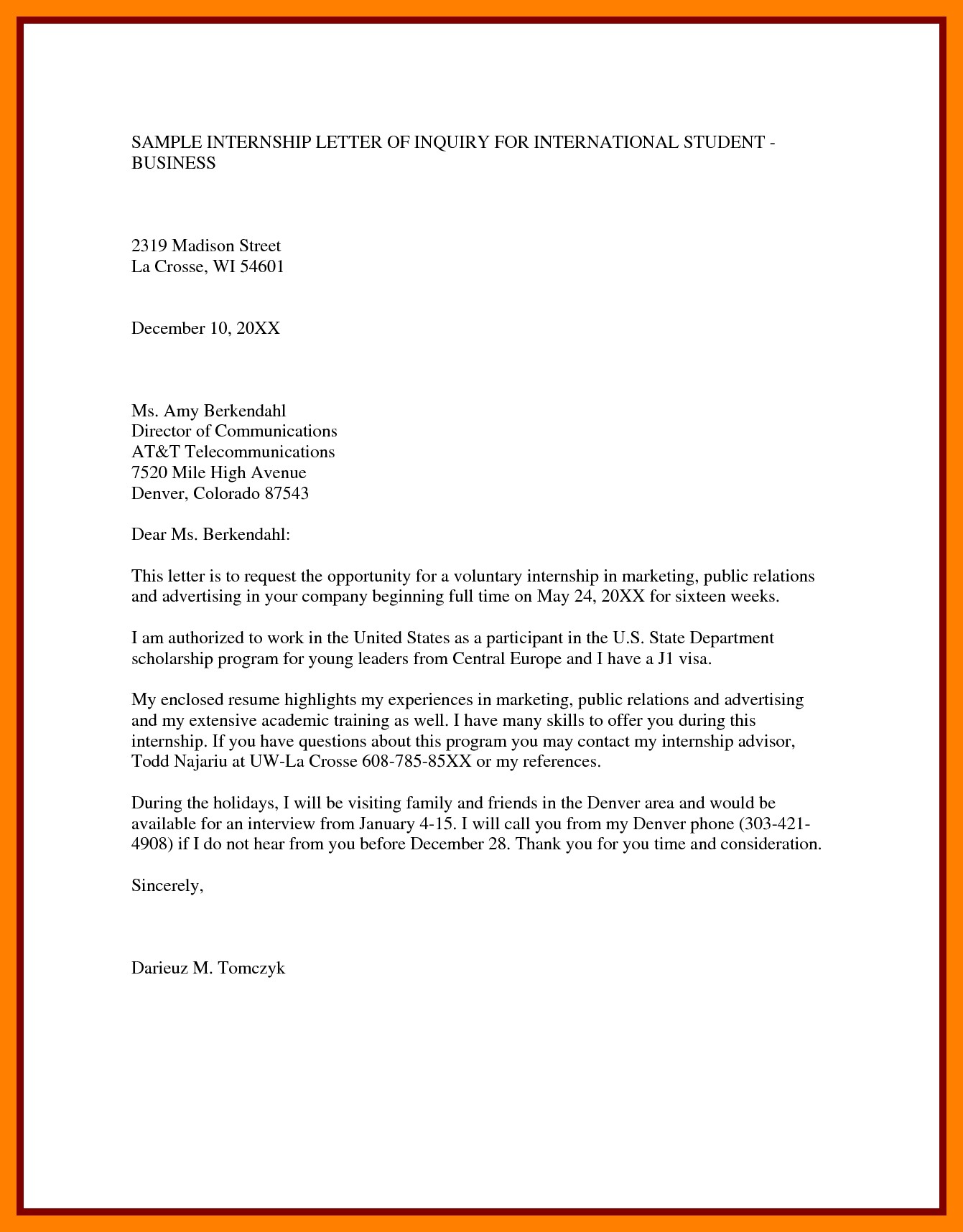 Inquiry Letter Sample And Format Archives Inspirationa 5 Sample Of
