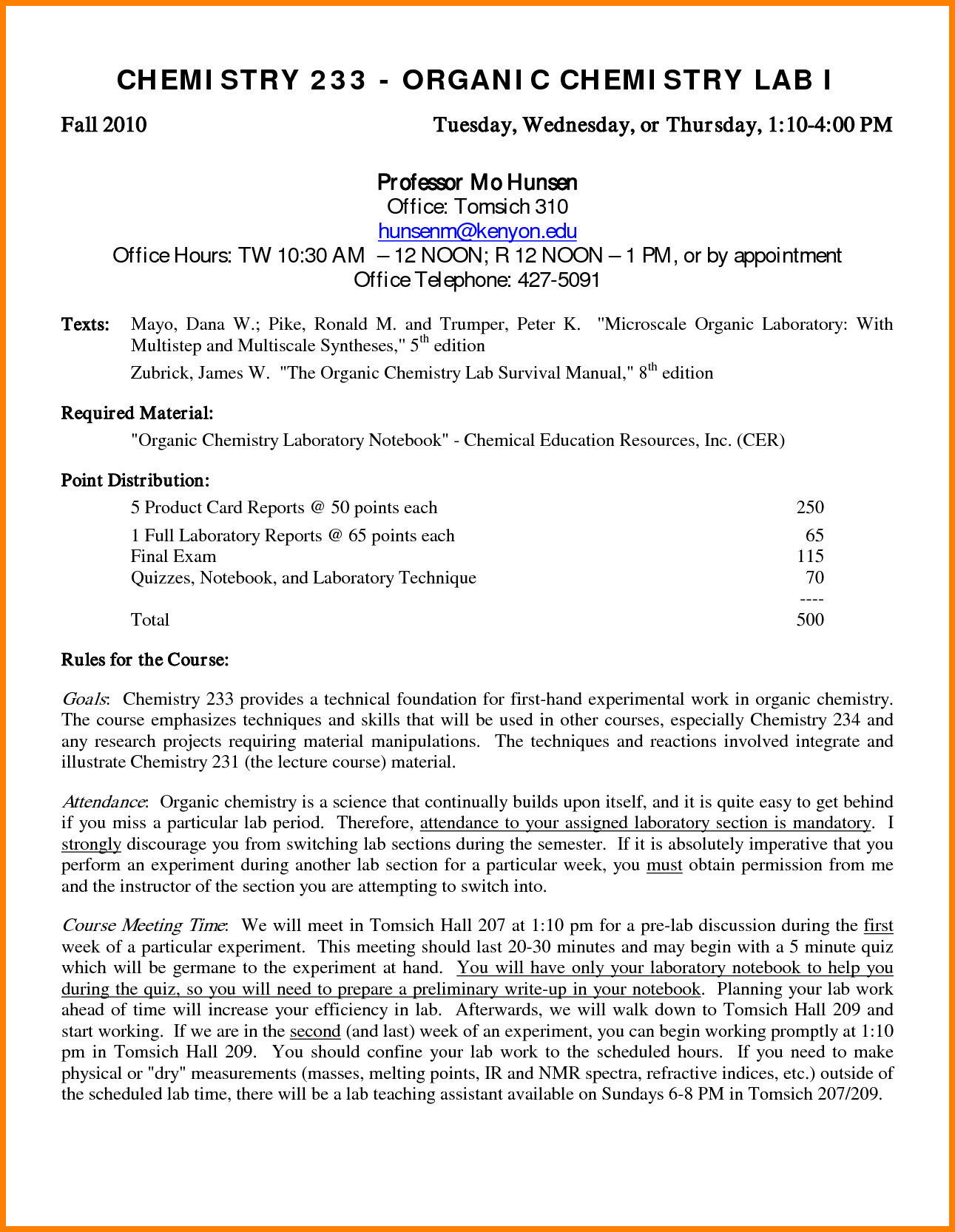 Chemistry Lab Report Template (3) | Professional And High Quality