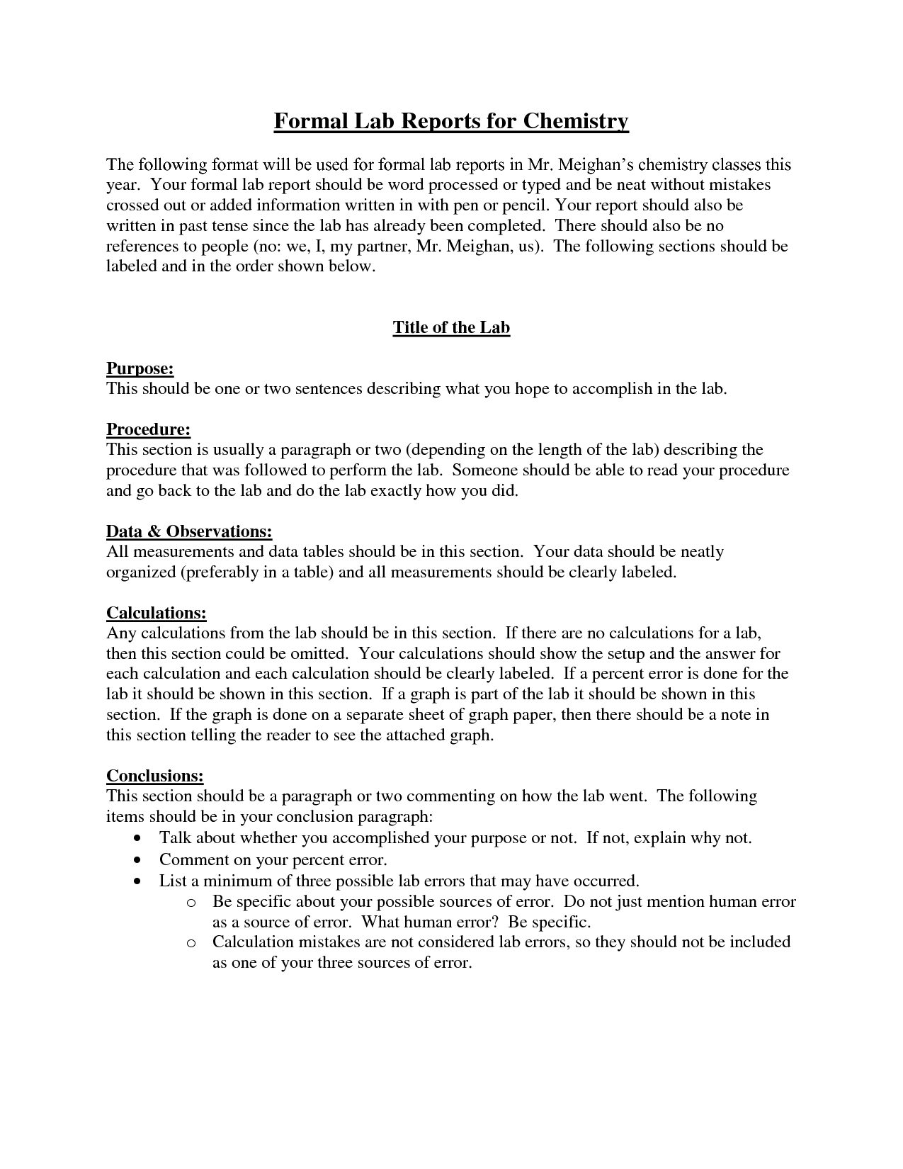 Formal Lab Report Example | laperlita cozumel