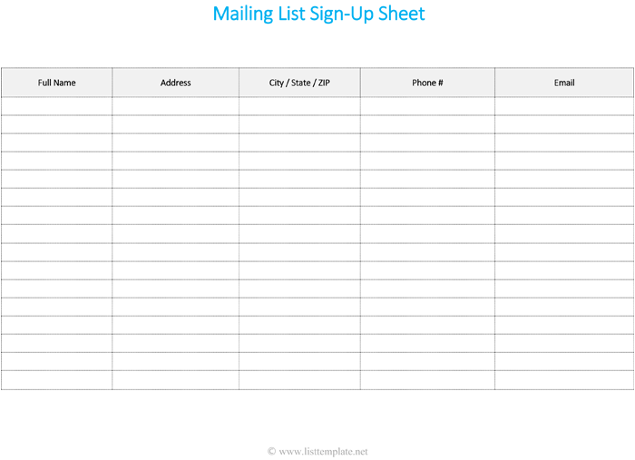 10+ Attendance List Templates | Sample Templates