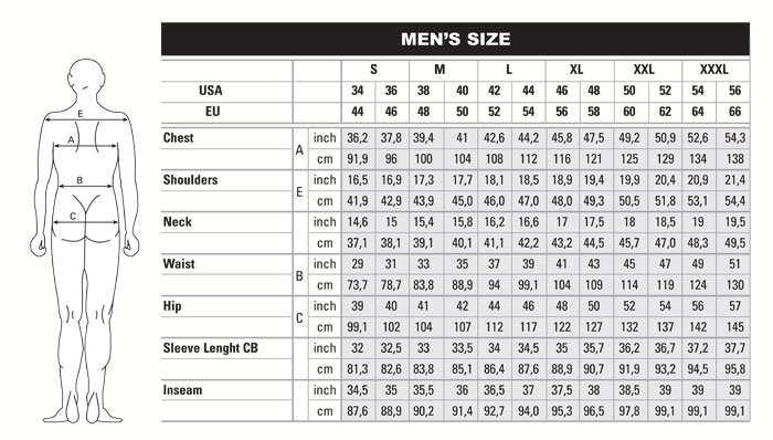 size chart men shirt Dean.routechoice.co