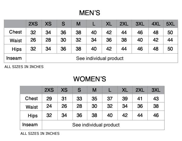 mens size chart Dean.routechoice.co