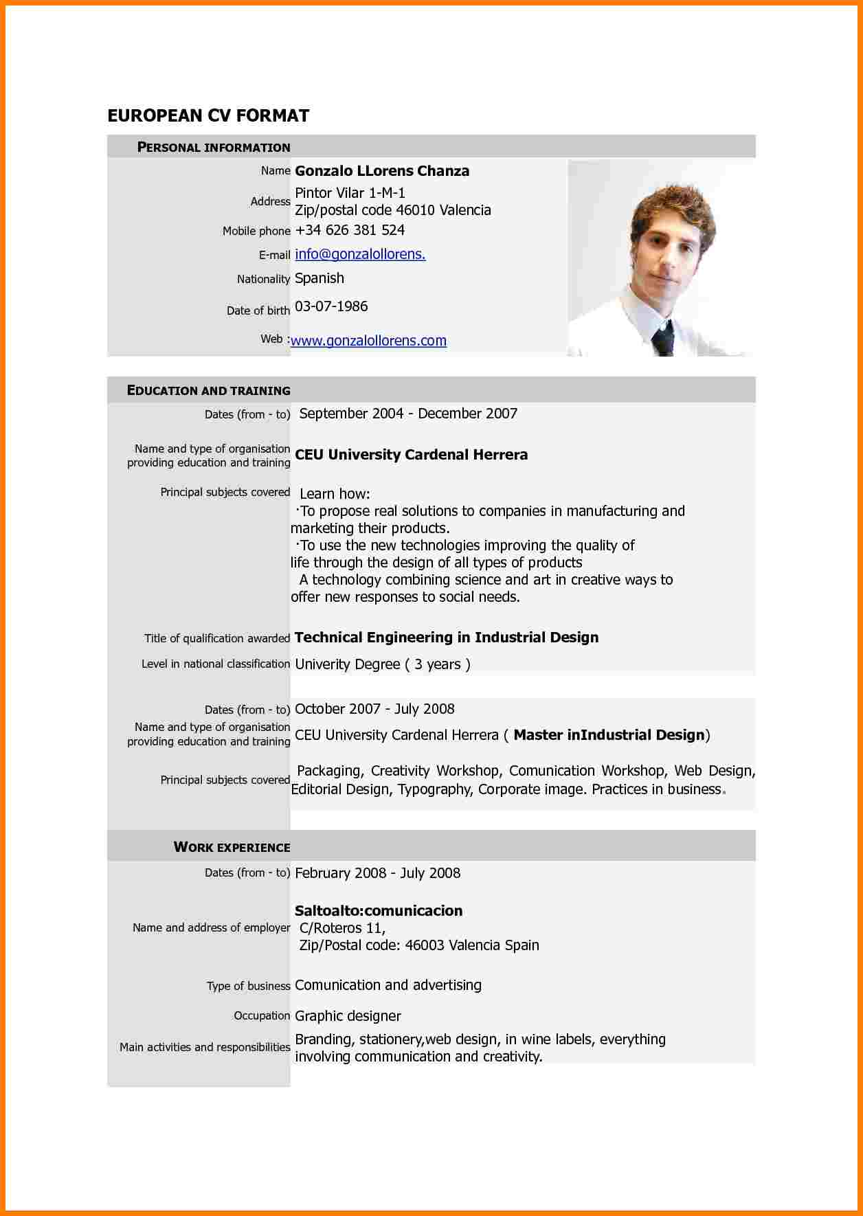 Latest cv format new resume 8 9 practicable so – articlesinsider.info