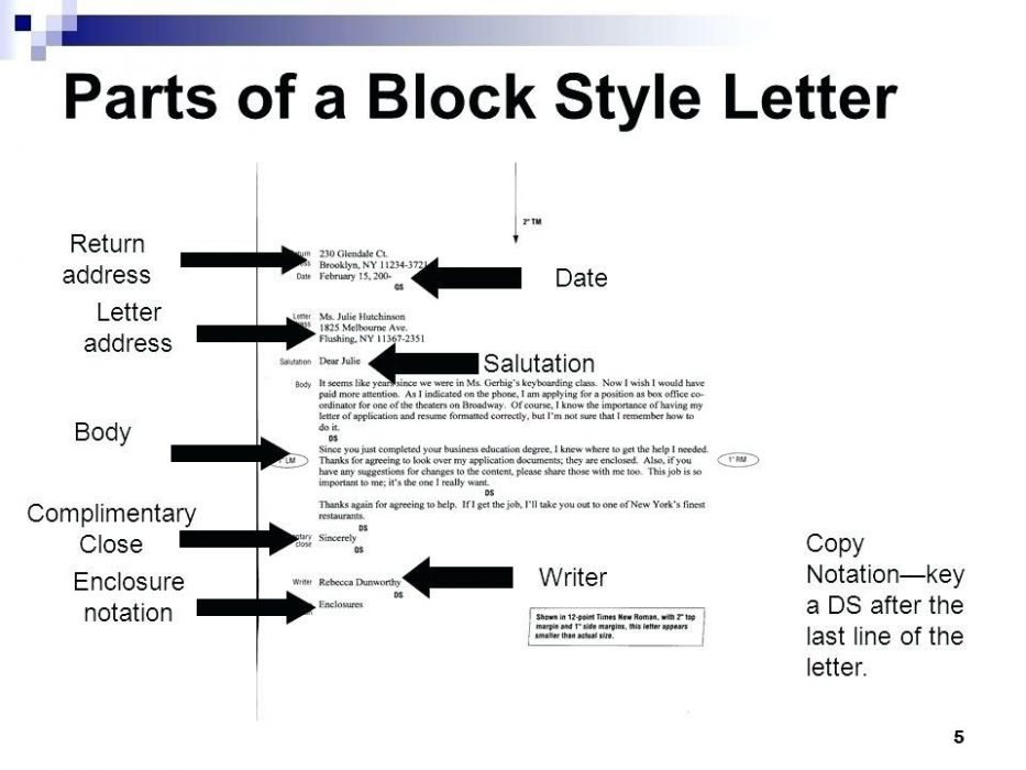 Personal Business Letter Parts | Theveliger Within Business Letter