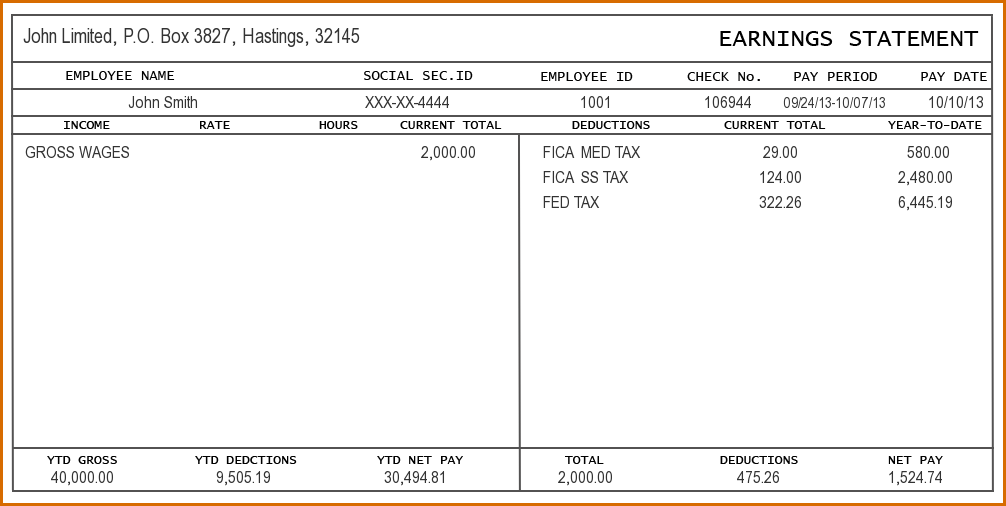 excel pay stub templates Dorit.mercatodos.co