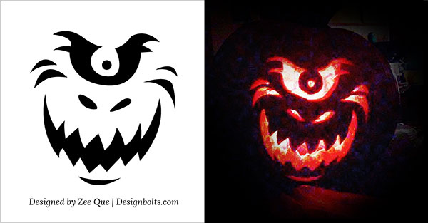 Pumpkin stencils printable 10 free halloween scary cool pumpkin