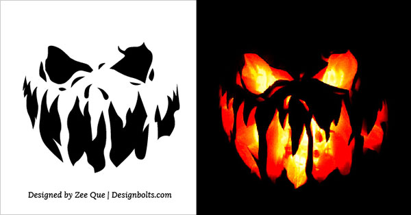 scary pumpkin stencils 10 free printable scary pumpkin carving