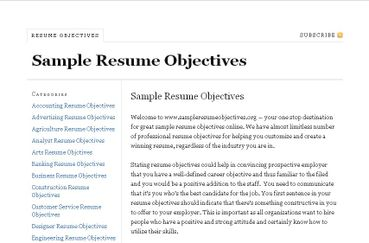 Sample Objective For Resume Examples Of Resumes Objectives