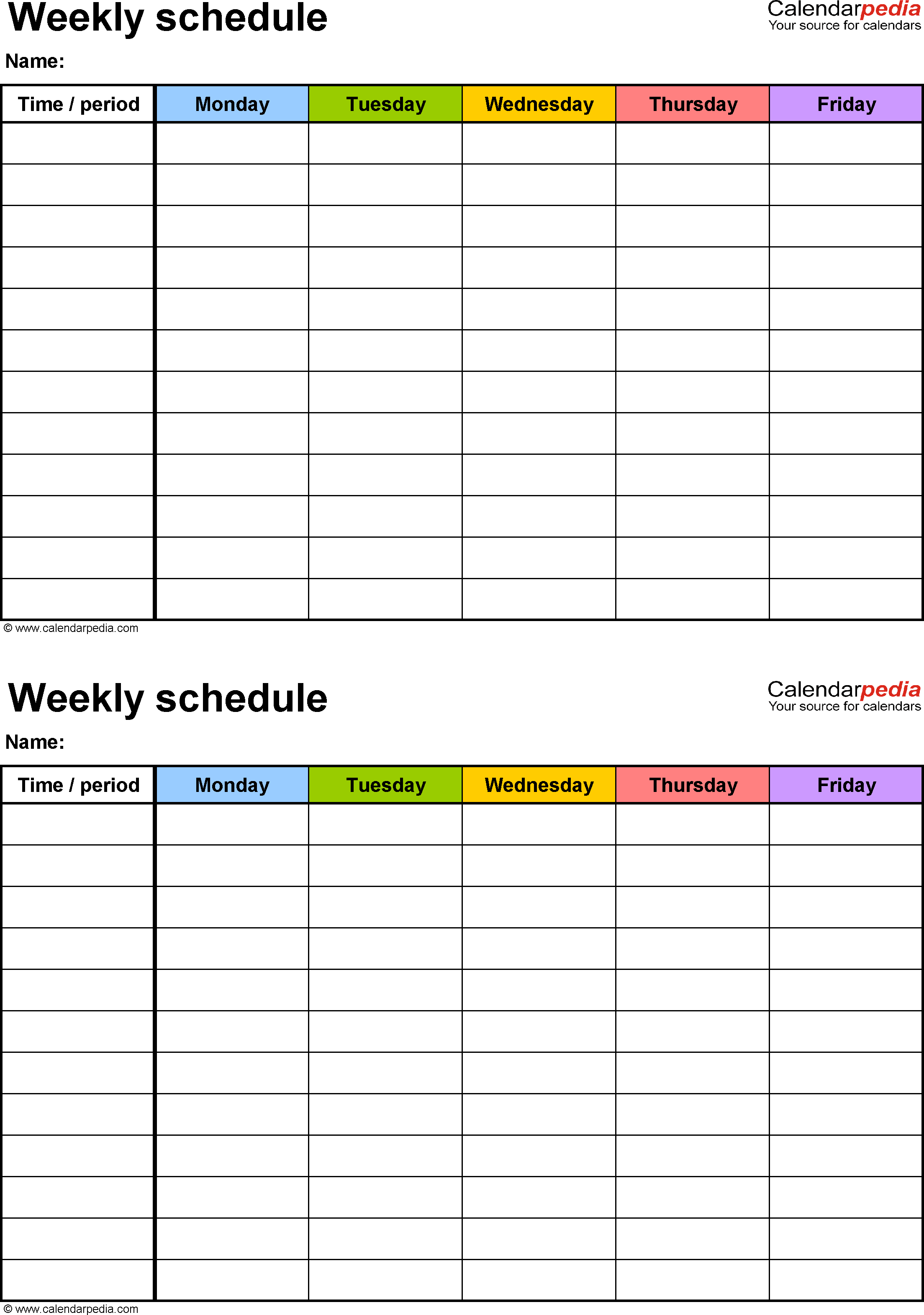 school schedule printables Dorit.mercatodos.co