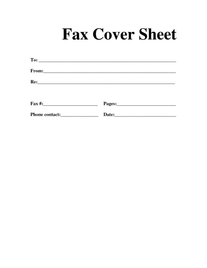 Basic Fax Cover