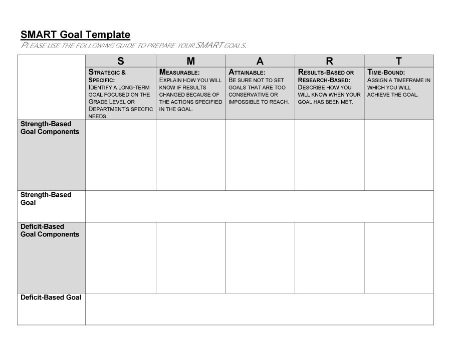 smart goals worksheet 48 smart goals templates examples worksheets