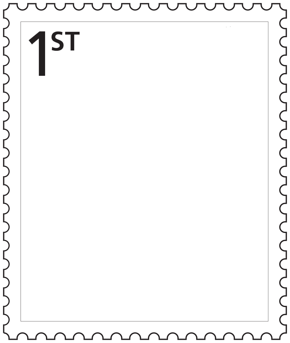 postage stamp template |