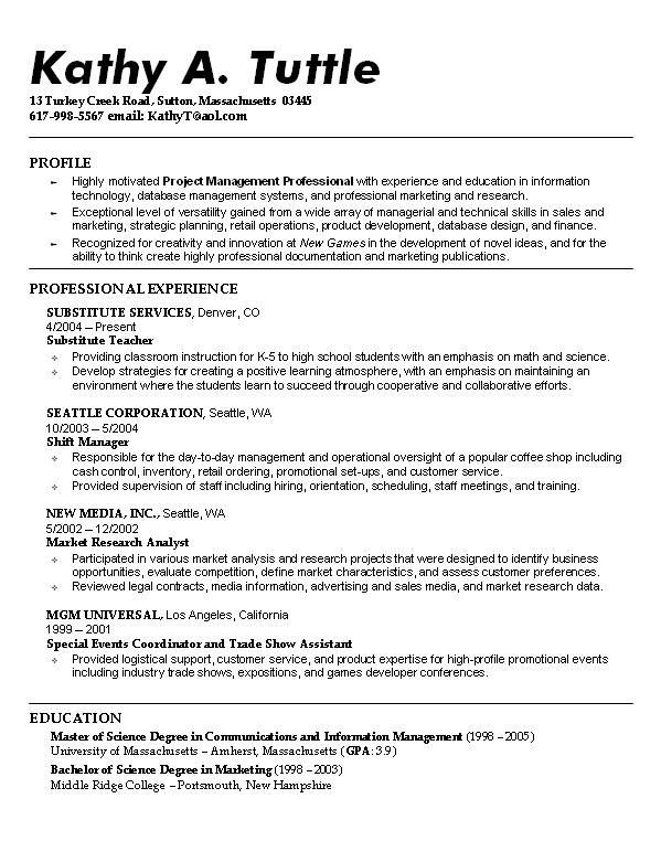 Student Resume Examples outathyme.com